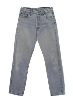 1980's Mens Stone Washed Levis 501 Straight Leg Denim Jeans Pants