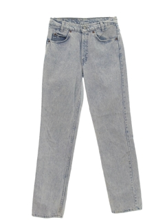 1990's Mens Acid Washed Straight Leg Jeans-cut Pants