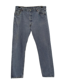 1980's Mens Levis 501 Straight Leg Denim Jeans Pants