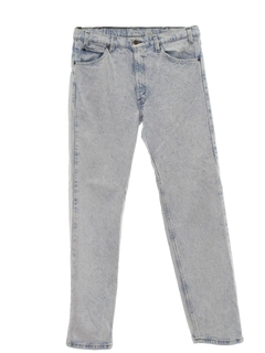 1980's Mens Acid Washed Straight Leg Denim Jeans Pants