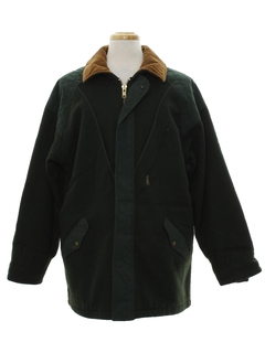 1980's Mens Wool Coat Jacket