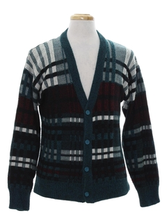 1980's Mens Totally 80s Cardigan Cosby Sweater