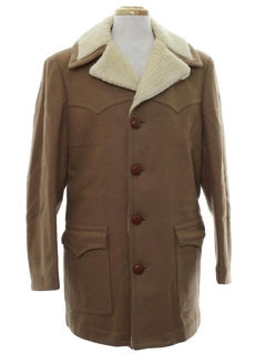 1970's Mens Western Style Car Coat Jacket