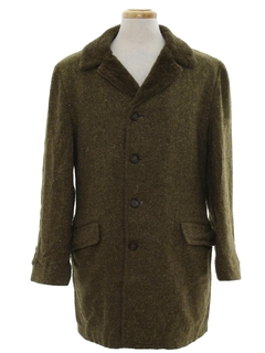 1960's Mens Wool Car Coat Jacket