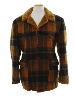 1960's Mens Wool Western Style Coat Jacket