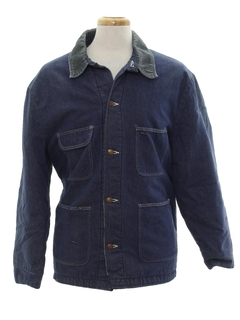1960's Mens Denim Coat Jacket