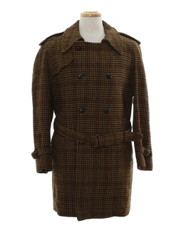 1970's Mens Wool Coat Jacket