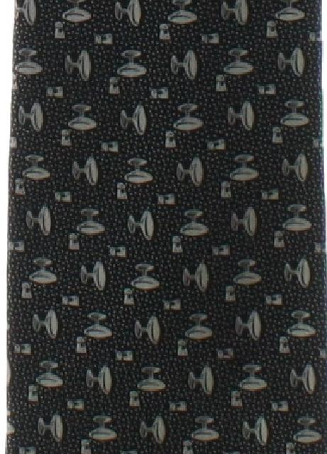 1970's Mens Wide Cocktail Print Disco Necktie