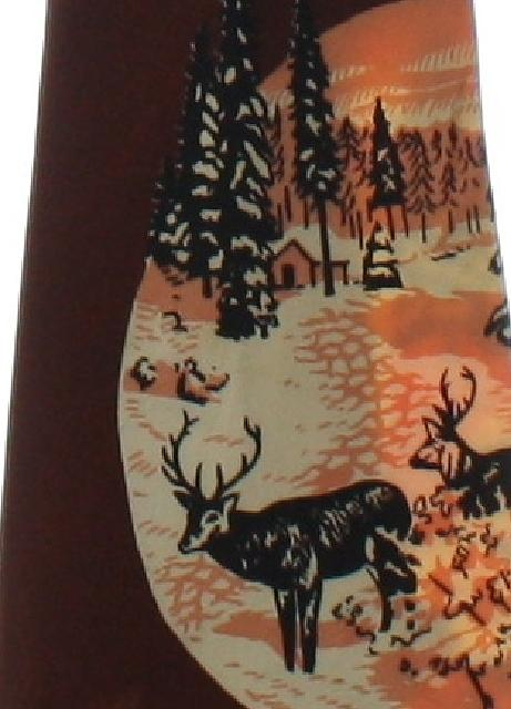 1940's Mens Wide Swing Reindeer Print Holiday Necktie