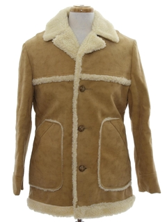 1970's Mens Vinyl Car Coat Jacket
