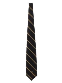 1970's Mens Designer Wide Diagonal Necktie