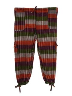 1970's Womens Hippie Style Capri Pants