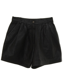 1980's Womens Totally 80s Leather Shorts