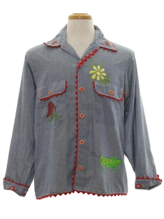 1960's Unisex Chambray Shirt