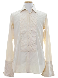 1950's Mens Pleated Tuxedo Shirt
