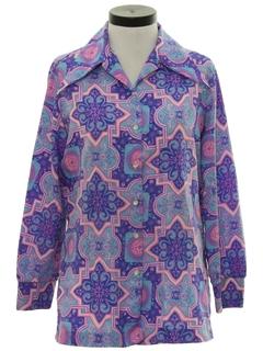 1970's Womens Mod Hippie Shirt