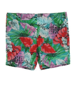 1980's Mens Totally 80s Print Board Shorts