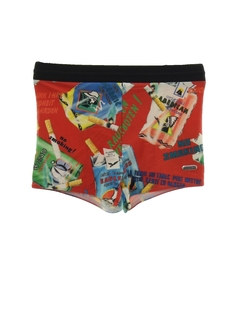 1990's Mens Wicked 90s Print Swim Shorts