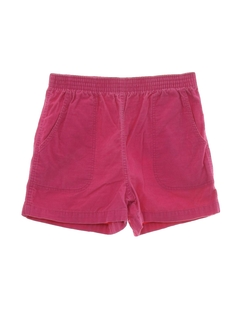 1980's Womens Totally 80s Corduroy Shorts