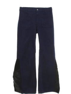 1970's Mens Elephant Bellbottom Leather Jeans Pants