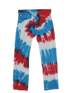 1970's Mens Levis 501 Tie Dyed Jeans Pants
