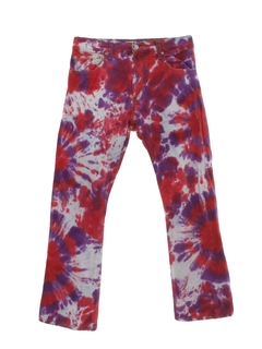 1970's Mens Levis 517 Tie Dyed Jeans Pants