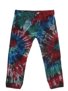 1970's Mens Levis Tie Dyed Jeans Pants