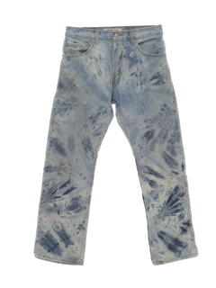 1970's Mens Levis 517 Tie Dyed Acid Washed Jeans Pants