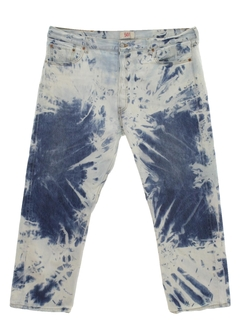 1970's Mens Levis 501 Tie Dyed Acid Washed Jeans Pants