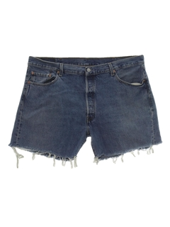 1990's Mens Levis 501s Denim Cut-Off Jeans Shorts
