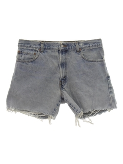 1990's Mens Levis 517 Denim Cut-Off Jeans Shorts