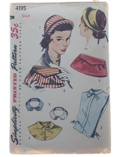 1950's Womens Accessories -Pattern