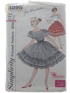 1950's Womens Skirt & Blouse Pattern