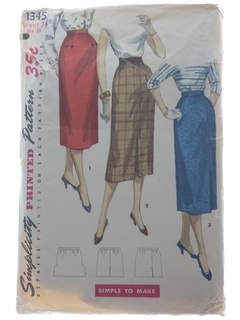 1950's Womens Skirt Pattern