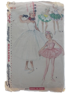 1950's Womens/Girls Ballet Costume Pattern