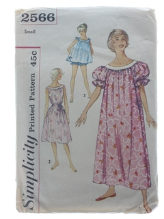 1960's Womens Nightgown Pattern