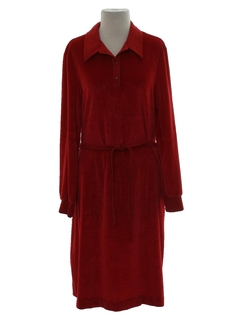 1970's Womens Velour Dress