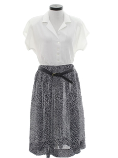 1980's Womens Totally 80s Secretary Dress