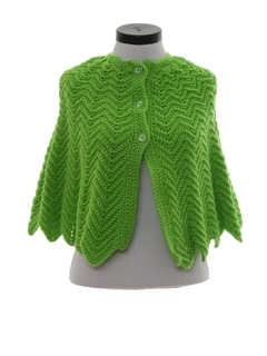 1960's Womens Knit Sweater Cape
