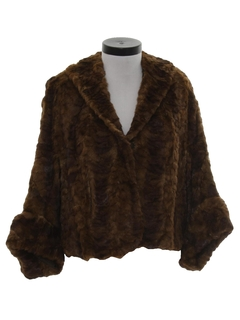 1950's Womens Fur Cape Jacket