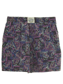 1980's Unisex Totally 80s Baggy Print Shorts