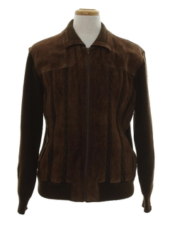 1980's Mens Leather Sweater