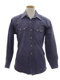 1960's Mens Western Denim Shirt