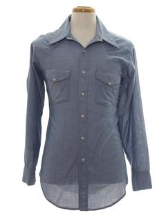 1970's Mens Western Chambrey Shirt