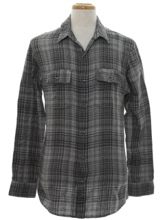 1980's Mens Totally 80s Flannel Sport Shirt