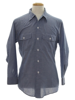1980's Mens Chambray Work Shirt