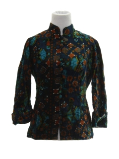 1960's Womens Velvet Hippie Shirt
