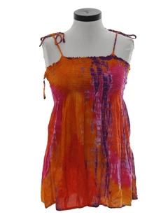 1980's Womens Hippie Tie Dye Hippie Shirt