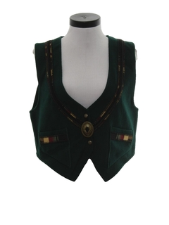 1980's Womens Wool Equestrian Style Vest