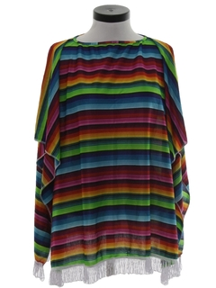 1980's Womens Hippie Style Poncho Jacket